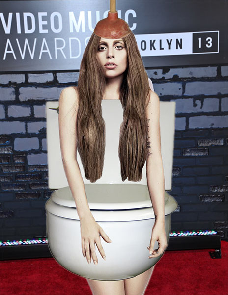 Lady Gaga - Toilet Tank Top outfit