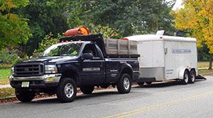 Landscaper Truck and Trailer