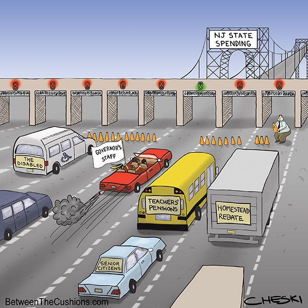 More Backups in New Jersey - Cartoon