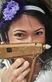 Michelle wtih Glue Gun