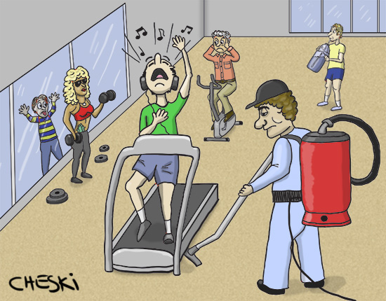 Fitness Club Cartoon