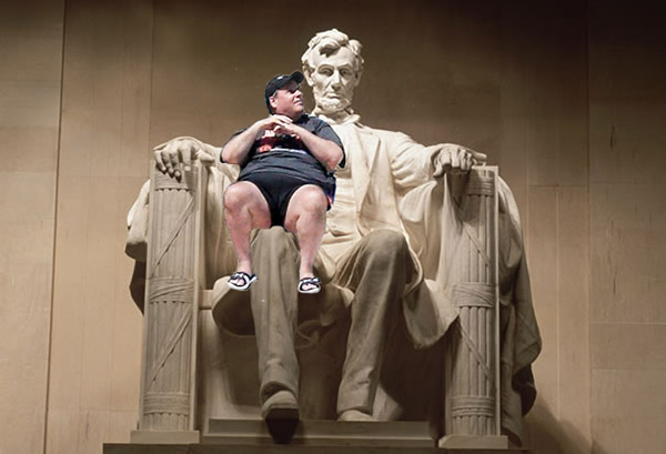 Chris Christie on Lincoln's Lap