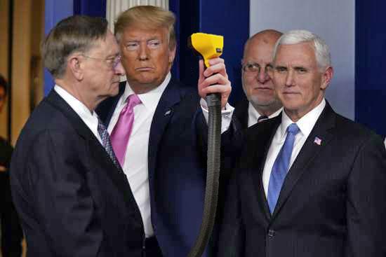President Trump demonstrates Flowbee on Robert Kadelc